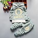 Χαμηλού Κόστους Σετ ρούχων για αγόρια-Μωρό Αγορίστικα Καθημερινό / Βασικό Καθημερινά / Γενέθλια Ασπρόμαυρο Houndstooth / Τετράγωνο Καρό Μακρυμάνικο Κανονικό Κανονικό Βαμβάκι Σετ Ρούχων Πράσινο του τριφυλλιού / Νήπιο
