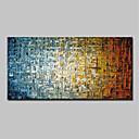 billiga Abstrakta målningar-Hang målad oljemålning HANDMÅLAD - Abstrakt Moderna Utan innerram / Valsad duk