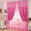 billige Gardiner-gardiner gardiner to paneler stue blomstrete 100% polyester jacquard