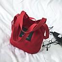 Χαμηλού Κόστους Τσάντες χιαστί-Γυναικεία Φερμουάρ Καμβάς Τσάντα ώμου Τσάντα από καραβόπανο Γκρίζο / Κίτρινο / Σκούρο πράσινο