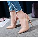 ราคาถูก รองเท้าแตะผู้หญิง-สำหรับผู้หญิง รองเท้าส้นสูง ส้น Stiletto หนังสิทธิบัตร ความสะดวกสบาย / ปั๊มพื้นฐาน ฤดูใบไม้ผลิ / ฤดูร้อน ขาว / สีดำ / Almond / ทุกวัน