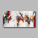 Χαμηλού Κόστους Αφηρημένοι Πίνακες-Hang-ζωγραφισμένα ελαιογραφία Ζωγραφισμένα στο χέρι - Αφηρημένο Σύγχρονο Μοντέρνα Περιλαμβάνει εσωτερικό πλαίσιο / Επενδυμένο καμβά