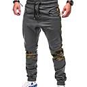ราคาถูก ตะขอตกปลา-สำหรับผู้ชาย พื้นฐาน / Street Chic ขนาดพิเศษ ทุกวัน สุดสัปดาห์ เพรียวบาง กางเกงวอร์ม / Cargo Pants กางเกง - สีพื้น / ลายบล็อคสี ลายต่อ สีดำ สีเทา สีกากี XXL XXXL XXXXL