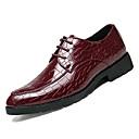 ราคาถูก รองเท้าOxfordสำหรับผู้ชาย-สำหรับผู้ชาย รองเท้าอย่างเป็นทางการ PU ตก รองเท้า Oxfords สีดำ / แดง / พรรคและเย็น