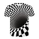 Χαμηλού Κόστους Καθίσματα & Σέλες-Ανδρικά T-shirt Κλαμπ Βασικό / Κομψό στυλ street 3D Στρογγυλή Λαιμόκοψη Στάμπα Ασπρόμαυρο Λευκό / Κοντομάνικο / Καλοκαίρι