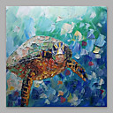 זול ציורים מופשטים-ציור שמן צבוע-Hang מצויר ביד - מופשט מודרני כלול מסגרת פנימית / בד מתוח