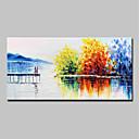 povoljno Slike krajolika-Hang oslikana uljanim bojama Ručno oslikana - Sažetak Pejzaž Moderna Uključi Unutarnji okvir / Prošireni platno
