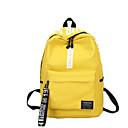 Χαμηλού Κόστους Σχολικές τσάντες-Καμβάς Φερμουάρ Σχολική τσάντα Σχολείο Πράσινο του τριφυλλιού / Ρουμπίνι / Κίτρινο