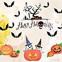 povoljno Naljepnice za prozore-Prozor Film i Naljepnice Ukras Umjetnička / Retro / Patterned / Halloween Odmor PVC Naljepnica za prozor / Shop / Caffe