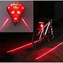 billiga Cykelöverdrag-Laser LED Cykellyktor Baklykta till cykel säkerhetslampor Bergscykling Cykel Cykelsport Vattentät Flera lägen Jätteljus Bärbar 14500 20 lm Laddningsbart USB Röd Camping / Vandring / Grottkrypning