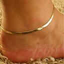 Χαμηλού Κόστους Μοδάτο Βραχιόλι-Γυναικεία αστράγαλο βραχιόλι πόδια κοσμήματα Κλασσικό Ενιαία Δέσμη Φτηνός κυρίες Στυλάτο Κλασσικό Βραχιόλι αστραγάλου Κοσμήματα Χρυσό Για Καθημερινά Εξόδου