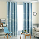 billige Gardiner-Moderne Blackout Gardiner To paneler Curtain & Sheer / Broderi / Soverom