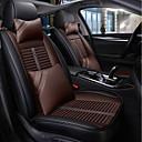 baratos DVD Player para Carros-preto marrom quatro estações tampa de assento do carro com 2 travesseiros de cabeça e 2 almofadas de cintura para carro de 5 lugares / couro pu / compatibilidade com airbag / ajustável e removível / c