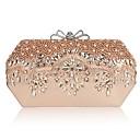 povoljno Stole za vjenčanje-Žene Perlica / Kristalni detalji PU Večernja torbica Kristalne vrećice od kristalnog kamena Crn / Šampanjac / Zlato / Jesen zima