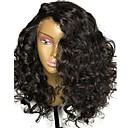 billige Lekeinstrumenter-Ubehandlet hår Blonde Forside Parykk Lagvis frisyre Rihanna stil Brasiliansk hår Krøllet Svart Parykk 150% Hair Tetthet med baby hår Naturlig hårlinje Til fargede kvinner Dame Lang Blondeparykker med