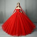 Χαμηλού Κόστους Αξεσουάρ για κούκλες-Φόρεμα κούκλα Γάμος Για Barbie Συμπαγές Χρώμα Βυσσινί Κίτρινο Κόκκινο Μείγμα Βαμβακιού Για Κορίτσια κούκλα παιχνιδιών / Παιδιά