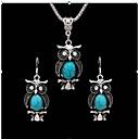 Χαμηλού Κόστους Τσάντες Ταξιδίου-Γυναικεία Τιρκουάζ Vintage Κολιέ Ρετρό Ζώο κυρίες Βίντατζ Σκουλαρίκια Κοσμήματα Μαύρο Ανοικτό / Κόκκινο / Μπλε Για Δώρο Καθημερινά