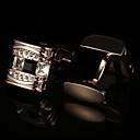 Χαμηλού Κόστους Μανικετόκουμπα Ανδρικά-Butoni Βασικό Κομψό Κρύσταλλο Καρφίτσα Κοσμήματα Χρυσαφί Για Πάρτι Δώρο