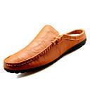 Χαμηλού Κόστους Αντρικά Τσόκαρα & Μιουλ-Ανδρικά Suede παπούτσια Σουέτ Καλοκαίρι Σαμπό & Mules Μαύρο / Λευκό / Κίτρινο / EU40