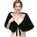 cheap Wedding Wraps-Sleeveless Faux Fur Wedding / Party / Evening Women's Wrap With Solid Capelets