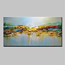 povoljno Slike za cvjetnim/biljnim motivima-Hang oslikana uljanim bojama Ručno oslikana - Sažetak Pejzaž Moderna Uključi Unutarnji okvir / Prošireni platno