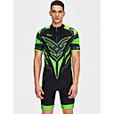 ราคาถูก ชุดเซทปั่นจักรยาน-21Grams สำหรับผู้ชาย แขนสั้น Cycling Jersey with Shorts - สีดำ จักรยาน กางเกงขาสั้น / เสื้อยืด / รายการถุงน่อง, ระบายอากาศ, แห้งเร็ว ความเย็นสุด®, ไลคร่า คลาสสิก / ความยืดหยุ่นสูง / ชุดเสื้อผ้า
