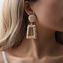 ราคาถูก ตุ้มหู-สำหรับผู้หญิง Drop Earrings Creative สุภาพสตรี รูปเลขาคณิต อติพจน์ สง่างาม ที่มีขนาดใหญ่ ต่างหู เครื่องประดับ สีเงิน / สีเหลือง / แดง สำหรับ ปาร์ตี้ Street บาร์ 1 คู่