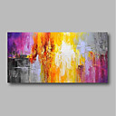 voordelige Abstracte schilderijen-Hang-geschilderd olieverfschilderij Handgeschilderde - Abstract Bloemenmotief / Botanisch Hedendaags Modern Inclusief Inner Frame / Uitgerekt canvas