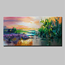 cheap Oil Paintings Great Sale-Oil Painting Hand Painted - Landscape / Floral / Botanical Modern Canvas