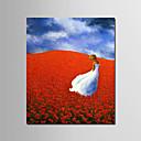 ราคาถูก ภาพวาดสัตว์-ภาพวาดสีน้ำมันแขวนทาสี มือวาด - People ลวดลายดอกไม้ / เกี่ยวกับพฤษศาสตร์ ที่ทันสมัย รวมถึงด้านในกรอบ / ผ้าใบยืด