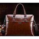 ราคาถูก กระเป๋าเอกสาร-สำหรับผู้ชาย ไม่มีลาย PU กระเป๋าเอกสาร สีดำ / สีน้ำตาล / ใบไม้สีเขียวที่มีสามแฉก
