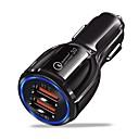 billiga Laddare för bilen-Billaddare USB-laddare USB QC 3,0 2 USB-portar 3.1 A DC 12V-24V för iPhone X / iPhone 8 Plus / iPhone 8