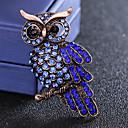 povoljno Značke i broševi-Muškarci Sapphire Kubični Zirconia Broševi Vintage Style Sa stilom Ptica Luksuz Moda Uglađeni Imitacija dijamanta Broš Jewelry Plava Za Dnevno Praznik