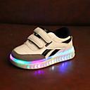 billige LED Sko-Gutt / Jente LED / Komfort / Lysende sko PU Treningssko Toddler (9m-4ys) / Små barn (4-7år) Hekte / LED Svart / Hvit Høst vinter