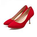ราคาถูก รองเท้าส้นสูงผู้หญิง-สำหรับผู้หญิง รองเท้าส้นสูง ส้น Stiletto PU ฤดูใบไม้ผลิ สีดำ / แดง / ฟ้า / ทุกวัน