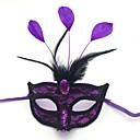 billiga Halloween- och karnevalkostymer-Mask Halloween Rekvisita Masquerade Mask Inspirerad av Alf Opera of Phantom Vit Purpur Halloween Halloween Karnival Vuxna Herr Dam