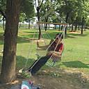 ราคาถูก ชุดหูฟังโทรศัพท์ & ธุรกิจ-เก้าอี้เปลญวน กลางแจ้ง Portable Lightweight ระบายอากาศ ผ้าใบ สำหรับ 1 คน แคมป์ปิ้ง เดินทาง โรงเรียน ใบไม้สีเขียวที่มีสามแฉก
