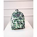 ราคาถูก School Bags-ไนลอน แพทเทิร์นหรือลายพิมพ์ กระเป๋าโรงเรียน ทุกวัน ใบไม้สีเขียวที่มีสามแฉก