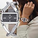 Χαμηλού Κόστους Σετ Κοσμημάτων-Γυναικεία Βραχιόλι Ρολόι Ρολόι Καρπού Diamond Watch Χαλαζίας Δέρμα Μαύρο / Λευκή Χρονογράφος Δημιουργικό Νεό Σχέδιο Αναλογικό κυρίες Βραχιόλι Κομψό - Λευκό Μαύρο Ενας χρόνος Διάρκεια Ζωής Μπαταρίας