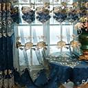 Χαμηλού Κόστους Διάφανες Κουρτίνες-Μοντέρνα Αποχρώσεις διάφανες κουρτίνες Two Panels Διαφανές / Κεντήματα / Υπνοδωμάτιο