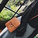 hesapli Çapraz Çantalar-Kadın's Düğme PU Omuz çantası Siyah / Kahverengi / Yonca