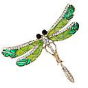 povoljno Značke i broševi-Žene Kubični Zirconia Broševi Sa stilom Teniski lanac Kreativan Dragonfly Luksuz Barroco Moda Broš Jewelry Zelen Za Vjenčanje Dnevno