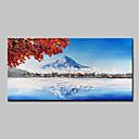 povoljno Slike krajolika-Hang oslikana uljanim bojama Ručno oslikana - Sažetak Cvjetni / Botanički Moderna Bez unutrašnje Frame / Valjani platno