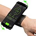 ราคาถูก กระเป๋าแบ็กแพ็กและกระเป๋า-ปลอกแขน Cell Phone Bag สายปรับได้ Lightweight ความยืดหยุ่นสูง กลางแจ้ง เดินทาง วิ่ง การออกกำลังกาย Lycra Spandex สีเขียว ฟ้า สีชมพู