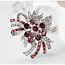 povoljno Nakit za vjenčanje i izlaske-Žene Kubični Zirconia Broševi Sa stilom Cvijet Stilski Romantični Broš Jewelry Crvena Fuksija Za Vjenčanje Party