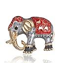 billiga Modebroscher-Dam Broscher Klassisk Trendig Elefant damer Stilig Klassisk Brosch Smycken Guld Till Dagligen