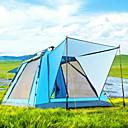 ราคาถูก เต้นท์และเต้นท์ผ้าใบกันแดด-BSwolf 4 คน useless กลางแจ้ง กันลม กันน้ำฝน ระบายอากาศได้ ดับเบิล นาฬิกาไขลาน (Automatic) เต็นท์แคมปิ้ง 1500-2000 mm สำหรับ การตกปลา ชายหาด แคมป์ปิ้ง / การปีนเขา / เที่ยวถ้ำ ตูเล่ ผ้าออกซ์ฟอร์ด
