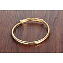billiga Modearmband-Dam Armringar Klassisk Kreativ damer Enkel Grundläggande Mode För mor 18K Guldpläterad Armband Smycken Guld Till Dagligen Datum
