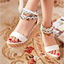 ราคาถูก รองเท้าแตะผู้หญิง-สำหรับผู้หญิง รองเท้าแตะ รองเท้าส้นตึก PU ฤดูร้อน ขาว / ส้ม / ฟ้า / EU36