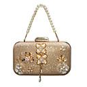 Χαμηλού Κόστους Τσαντάκια & Βραδινές Τσάντες-Γυναικεία Τσάντες Συνθετικός Βραδινή τσάντα Κρυστάλλινη λεπτομέρεια / Λουλούδι Χρυσό